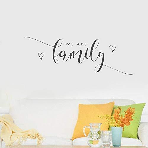 Tianpengyuanshuai Home Decoration Aufkleber wir sind Familie Wort Vinyl Schriftzug Wandaufkleber 85X30cm