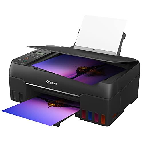 Canon Multifunktionsdrucker PIXMA G650 MegaTank Drucker Tintenstrahldrucker Scanner Kopierer (4.800 x 1.200 dpi, Fotodrucker 10x15 cm,, LC Display, WLAN, Wireless Printing, Auto Power On/Off) schwarz