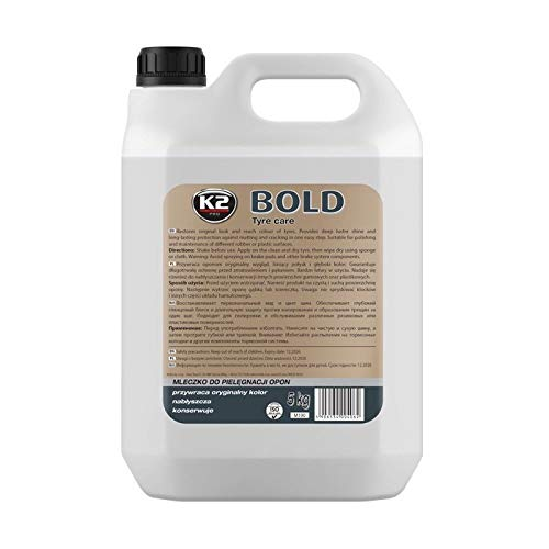 K2 Bold PKW LKW Reifen Polieren Glanz Pflegen Gummipflege Reifenschaum 5 Liter