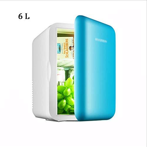 M&K Tragbare Mini-Kühlschrank Cooler Warmer, 6L Compact Skincare Kosmetik Kühlschrank für Autos Schlafzimmer, Inklusive Stecker für Heim Outlet & 12V Auto-Ladegerät