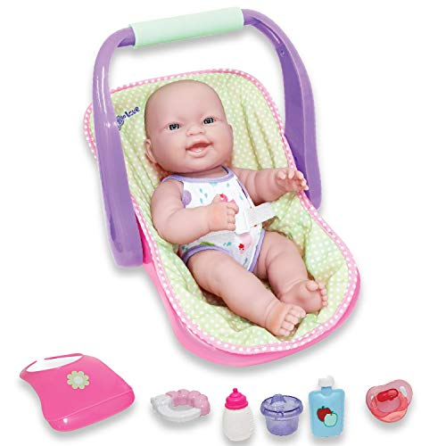 JC TOYS LOTS TO LOVE BABY DOLL IN ADJUSTABLE CARRIER - Featuring 14? all Vinyl doll - Perfect for Children 2+