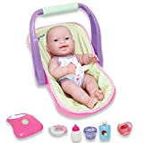 JC Toys, 14' Lots to Love Babies Doll and Car Seat - 4 Multi-position Carrier and Accessories - Posable & Waterproof - Ages 2+