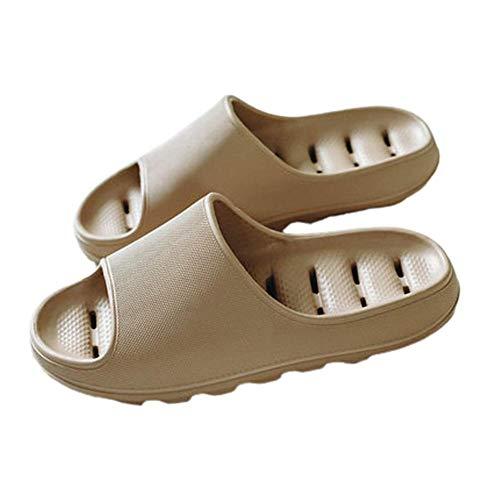 Pantofole per doccia da bagno ad asciugatura rapida Pantofole per sandali ad asciugatura rapida con fondo morbido Ciabatte da Uomo e Donna Pantofole ,Coffee color,41-42