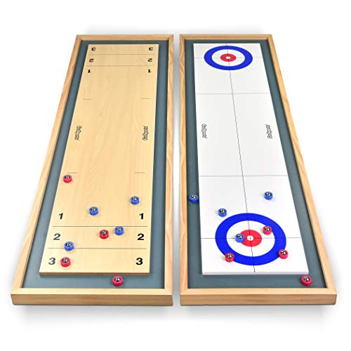 GoSports Shuffleboard and Curling 2 in 1...