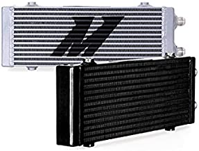 Mishimoto MMOC-DP-MBK Black Bar and Plate Oil Cooler (Universal Dual Pass, Medium)