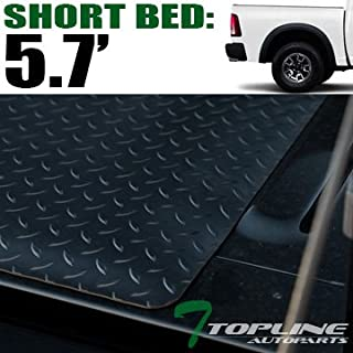 Topline Autopart Black Rubber Diamond Plate Truck Bed...