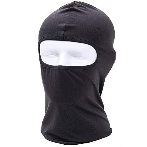 Pasamontañas,Pasamontañas Capucha Transpirable Máscara para Correr Senderismo Al aire libre Motocicleta Ciclismo Deportes-Negro