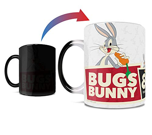 Looney Tunes – Bugs Bunny – 80th Anniversary - One 11 oz Morphing Mugs Color Changing Heat Sensitive Ceramic Mug – Image Revealed When HOT Liquid Is Added!