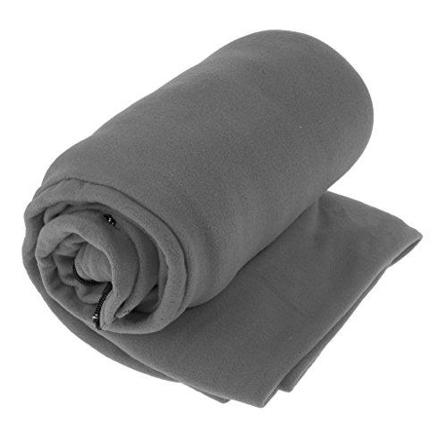 D DOLITY Lèger et Piable Sac de Couchage Chaud Tissu Polaire Tapis de Sol Tente Kit de Survie Camping Randonnée - Gris, 180 x 82 cm