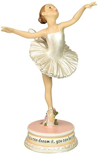 Ballet Collection Joseph's Studio Exclusive Dancing Ballerina Figurine with The Verse If You Dream It, You Can Become It, 7-Inch by Ballet Collection