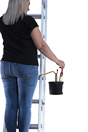 Accessoires d'échelle Seau de peinture et support de seau d'échelle Permet 3 points de contact sur les échelles extensibles