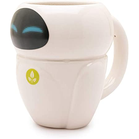 Wall:E Mug Eve Heat Changing 3D Shaped Official Pixar White Boxed