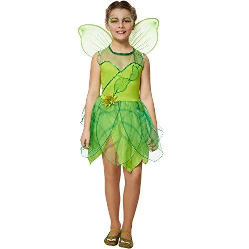 dressforfun 900345 Disfraz para Chica Hada del Bosques, Falda con Forma de Hoja, Flor bellamente Diseñada a la Altura de la Cadera (164 | no. 301715)