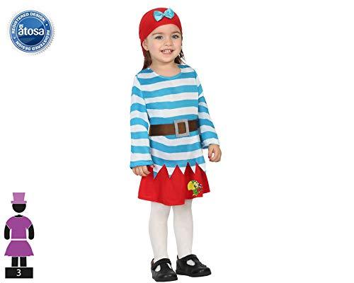 ATOSA disfraz pirata niña bebé loro 12 a 24 meses