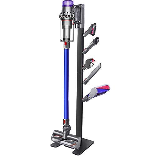 XIGOO Storage-Stand-Docking-Station-Halterung kompatibel mit Dyson V11 V10 V8 V7 V6 schnurlosen Staubsauger & Zubehör, stabiles Metall-Organizer-Rack, schwarz gebürstet