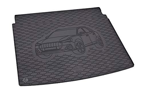 Passgenau Kofferraumwanne geeignet für Audi Q3 ab 2019 ideal angepasst schwarz Kofferraummatte + Gurtschoner