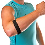 BraceAbility Epicondylitis Brace | Elbow Strap for Medial / Lateral Epicondyle Pain and Tendonitis Arm Compression Support Band for Men or Women (One Size Fits Most)