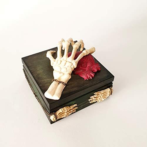 Gotik Ehering Box, Verlobungsring Box, Wedding Art, Ring-Box, Ring-Schatulle,Ring-Kästchen, Ring-Kissen, Hochzeit Zeremonie, Ring-Träger-Box, Holz Treasure Box