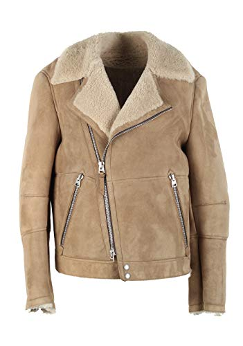CL - Tom Ford Sand Leather Suede Shearling Jacket Coat Size 52 / 42R U.S. Outerwear