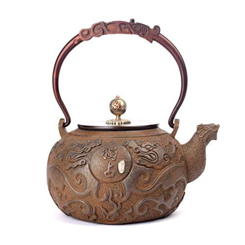 M-CH Tetera Tetera hogar Juego de té de Hierro Fundido Tetera desparafinado de fundición Teteras de té Flojo sin Recubrimiento de los hogares de cocción Caldera