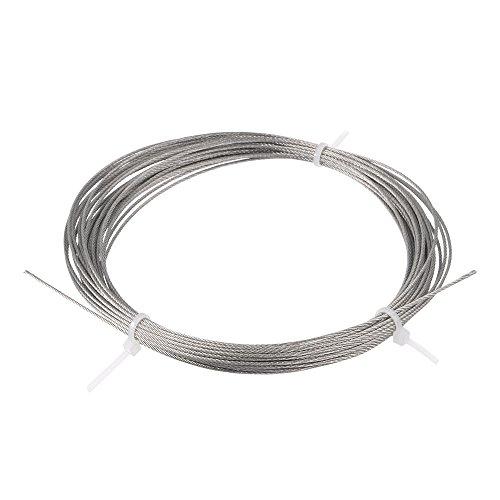 Sourcingmap A13092700UX1046 - Cable (acero inoxidable) color gris