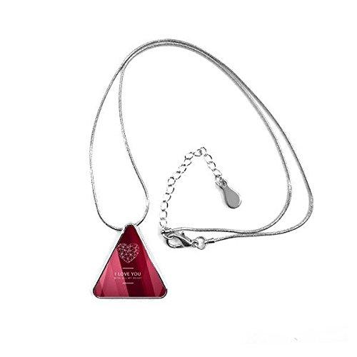 Collar con Colgante en Forma de triángulo, diseño con Texto en inglés...