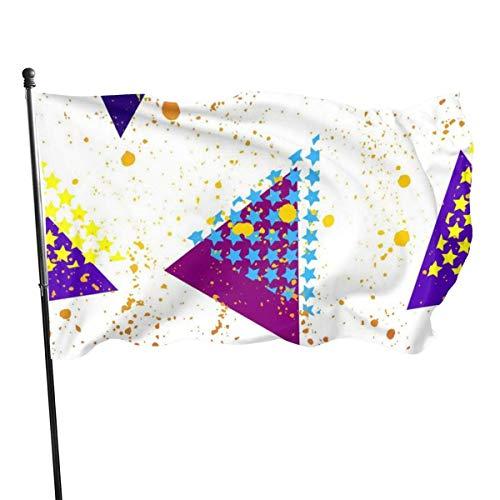 Jeewly Tiger und Pyramide Galaxy Sky Guard Flagge 3x5ft lebendige Farbe für den Innen- / Außenbereich   UV-geschützte Schutzfahnen