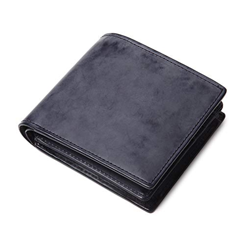 [ラファエロ] Raffaelo 英国王室が愛する 表裏フルブライドルレザー メンズ二つ折り財布