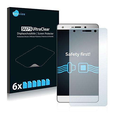 Savvies 6X Schutzfolie kompatibel mit Archos Diamond 2 Plus Bildschirmschutz-Folie Ultra-transparent