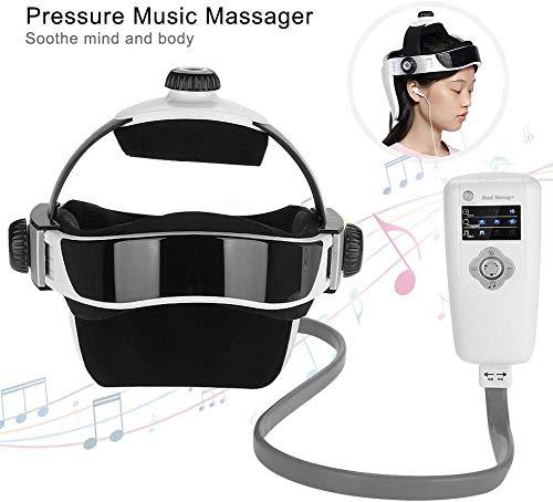 Rosvola Masajeador de Cabeza eléctrico, Casco de vibración Cerebral Masajeadores del...