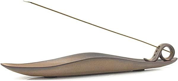 Anding Ceramic Incense Stick Holder Ceramic Incense Burner With Ash Catcher 9 Inch