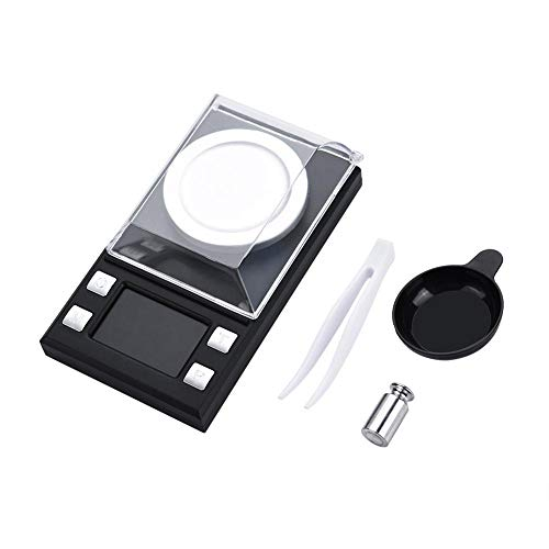 Elektronische precisieweegschaal digitale zakweegschaal met hoge nauwkeurigheid 0,001 g gewichttool voor sieraden met LCD-display zonder batterijen 1