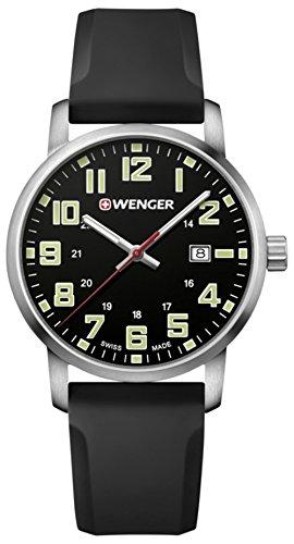 Wenger Avenue Reloj para Hombre Analógico de Cuarzo Suizo con Brazalete de Silicona 01.1641.110