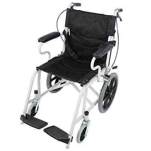 Cocoarm Faltrollstuhl Rollstuhl für Ältere und Behinderte Menschen Leichter Klapprollstuhl mit Handbremse Armlehnen und Klappbare Fußstützen
