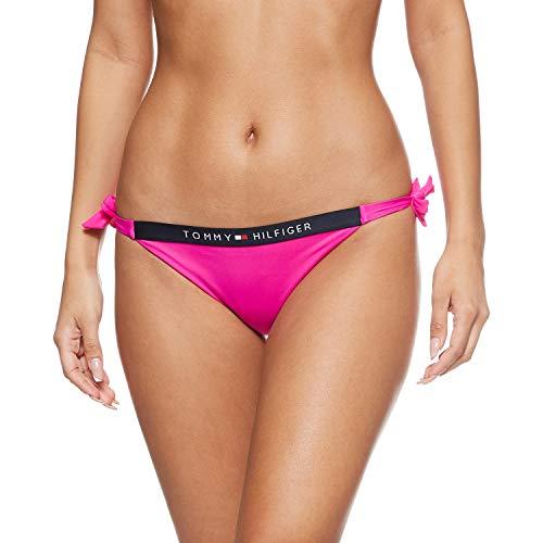 Tommy Hilfiger Cheeky Side Tie Parte de Arriba de Bikini, Rosa (Pink...