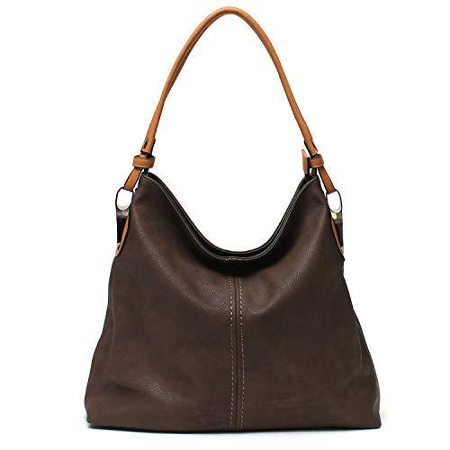 Janin Handbag Bucket Style Hobo Shoulder Bag with Extra Longer Strap