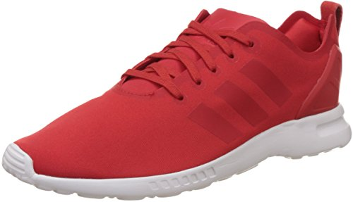 adidas Damen ZX Flux Smooth Sneakers, Rot (Lush Red S16-St/Lush Red S16-St/Core White), 42 EU