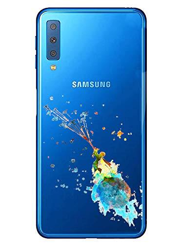 Oihxse Mode Transparent Silicone Case Compatible pour Samsung Galaxy S8 Plus Coque, Ultra Mince Souple TPU Mignon Animal Série Protection de Housse Anti-Scrach Bumper Etui -Petit Prince