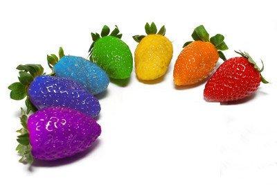 100pcs / sac 24 sortes de fraises Collection graines de fraises de fruits géant bonsaï pot non-OGM bio pour plantes de jardin à la maison 1