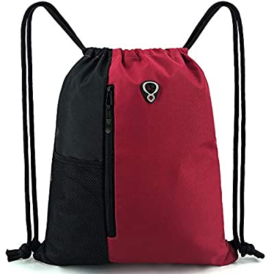 Cinch-Sack-Drawstring-Backpack-Bag for Women&Men Athletic Bags With Water Bottle Mesh Pockets