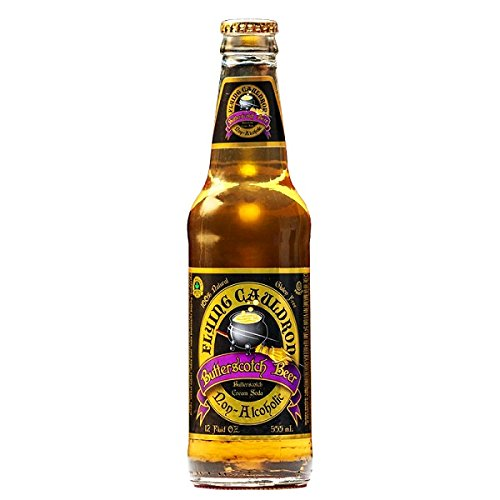 Flying Cauldron Butterscotch Beer (Butterbier ohne Alkohol) - Packung mit 4 x 355 ml - Gesamtmenge: 1420 ml
