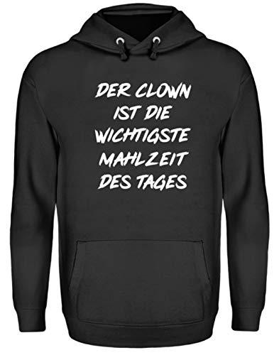 Generieke clown is de belangrijkste maaltijd van de dag - eenvoudig en grappig design - Unisex capuchontrui hoodie