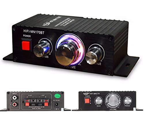 Blizim Mini Amplificador Bluetooth 2 Canal 60W HiFi Estéreo Audio Subwoofer
