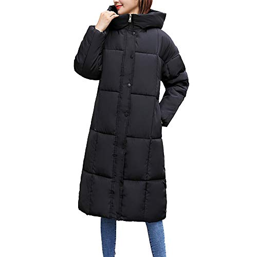 FRAUIT dames warme dikke capuchon dames winterjas winterjas | lange donsjas outwear vrouwen winter warm | donsjas werken bij feesten casual dikkere mantel