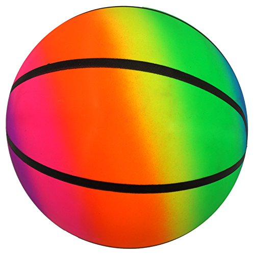 Best Sporting PVC-Ball Toy Rainbow, 22 cm, Spielball Fußball Beachball, Design: Basketball