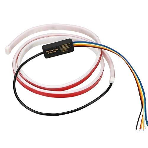 Lankater 1pc Maletero del Coche De Trasera Luz Dinámica Streamer Inversa Luz De Advertencia del Freno Intermitente Led Strip Coche 12v 1.2m