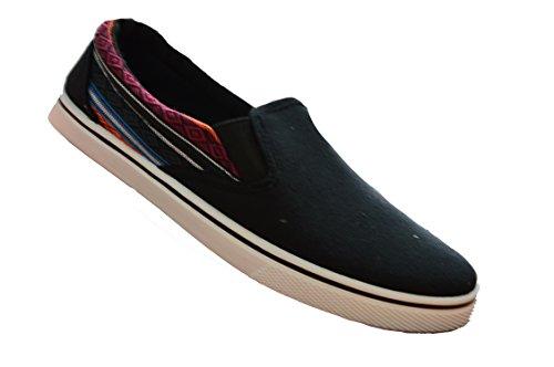 Memphis One David, Jungen Sneaker Low-Tops, Mehrfarbig - Black/Aztec - Größe: 33 EU