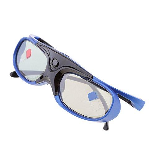 IPOTCH Gafas de Obturador Activo Recargables de 144Hz para Todos Los Proyectores DLP-Link 3D, Nuevo