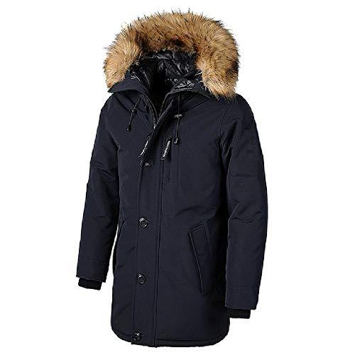 OKJI Mannen Winter Warm Bont Kraag Lange Dikke Katoen Casual Parkas Jas Mannen Merk Zakken Outwear Waterdichte Jas Parka
