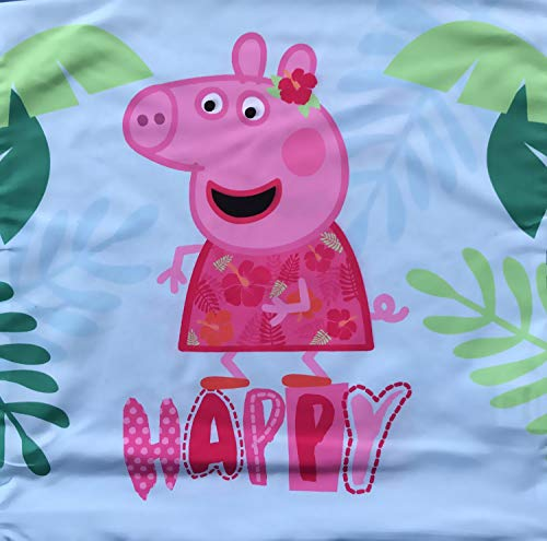 Coole-Fun-T-Shirts Peppa Wutz Happy Kussenhoes 40x40cm Sofakussenhoes roze of lichtblauw